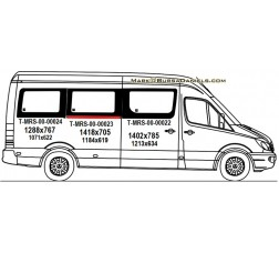 Mercedes Sprinter Sliding Glass (MRS00020 SET) . . . . . . . - > DOUBLE GLASS