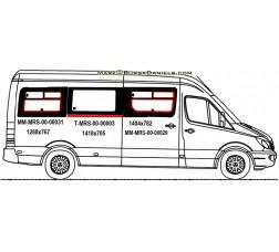 Mercedes Sprinter Sliding Glass (SCHOOL BUS WINDOW)  (MRS00035 SET)