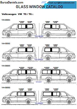 Catalog of Glass for Bus/Van/Minibus at BursaDaniels.com